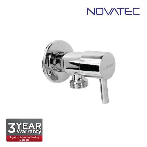 Novatec Chrome Plated Angle Valve With Wall Flange AV303
