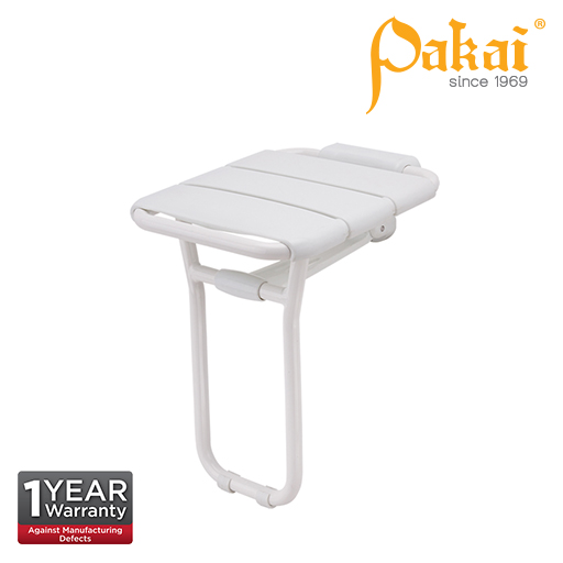 Pakai Wall Mount Swing Up Shower Seat with Floor Support BF-8905