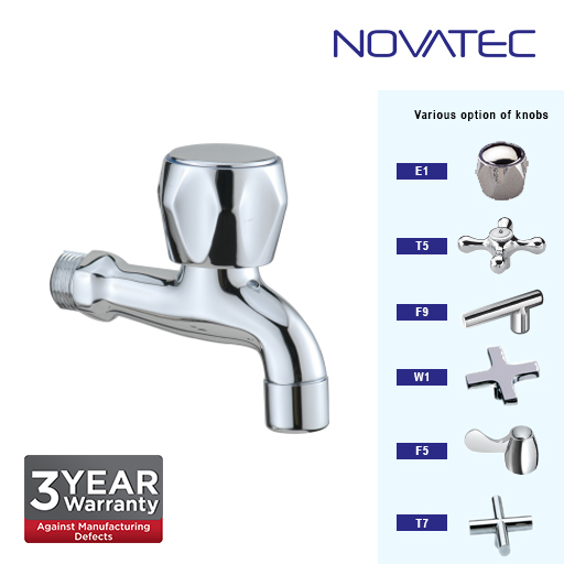 Novatec Chrome Plated Elongated Bibtap F5-1113