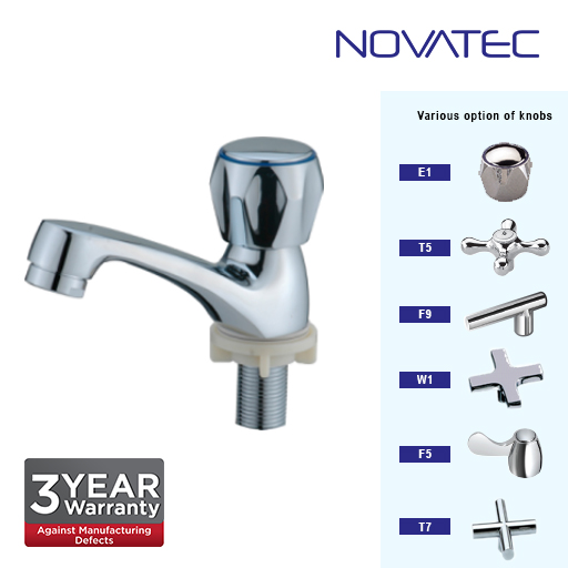 Novatec Chrome Plated Deluxe Big Body Pillar Tap F5-1123B
