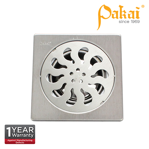 Pakai  6 inch X 6 inch  Stainless Steal Floor Grating With Insect Resistant Trap FA117