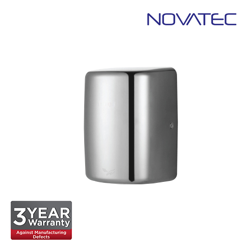 Novatec Automatic High Speed Hand Dryer In Satin Stainless Steel Casing With Uv Sterilization Light
