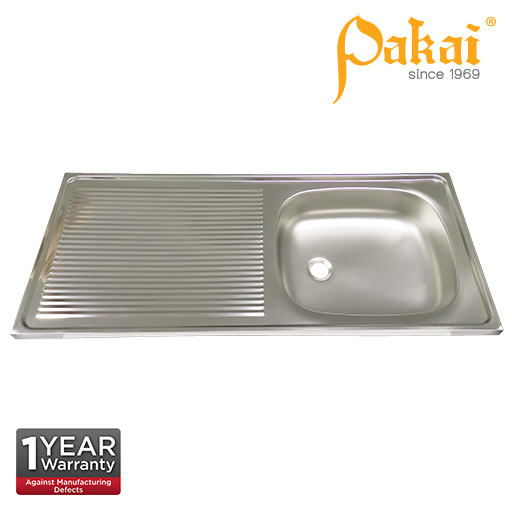 Pakai SUS201 Single Bowl Single Drainer(SBSD) Kitchen Sink KSL1066-4