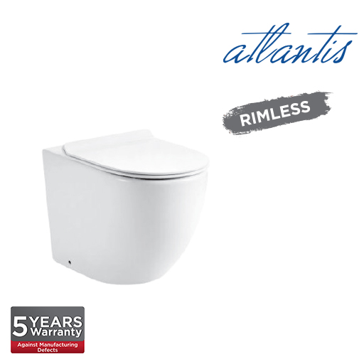 Atlantis Milan D Back To Wall Rimless Washdown Pedestal Water Closet LT2141D