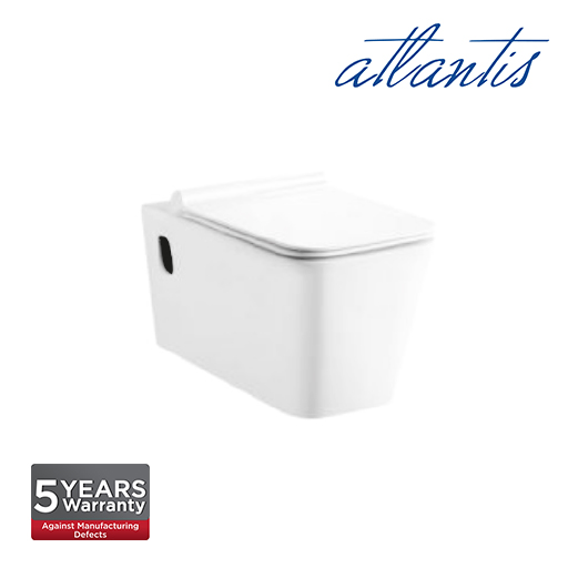 Atlantis Pompei White WC Wall Hung Water Closet LT003E