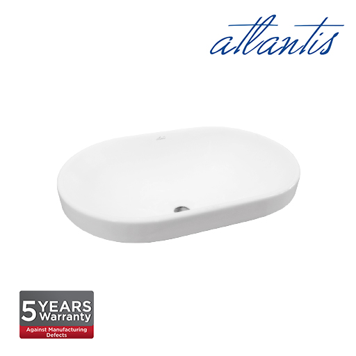 Atlantis Mitilini 590 Oval Above Counter Basin LT4028
