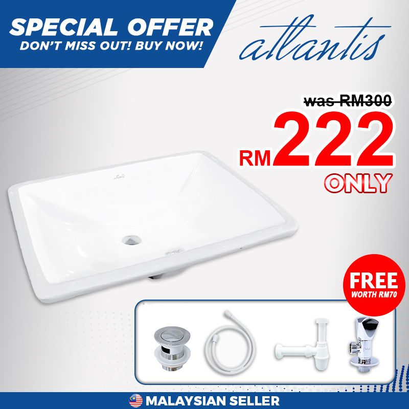 Atlantis Icaria 510 Under Counter Basin - Free 4 Items