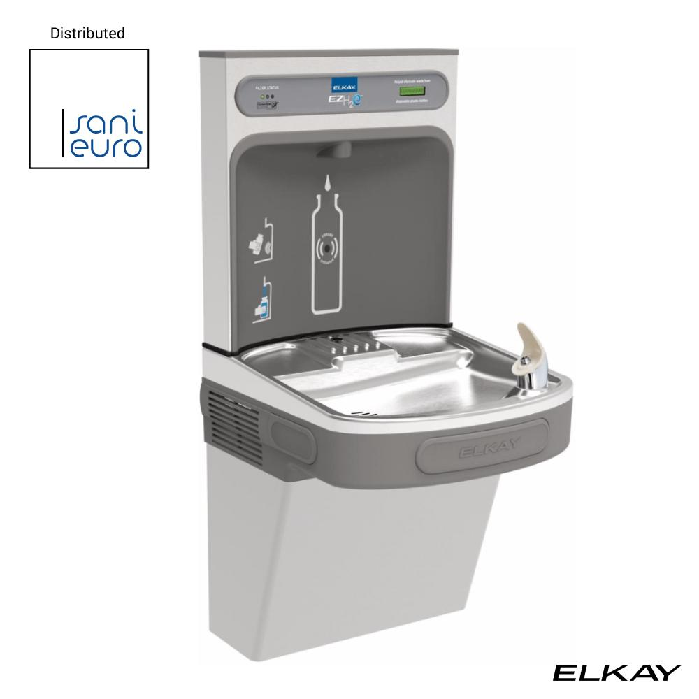 Elkay Ezh2O Bottle Filling Station With Single Ada Cooler, Filtered 8 Gph Stainless 220V (Lzs8Wss2K)
