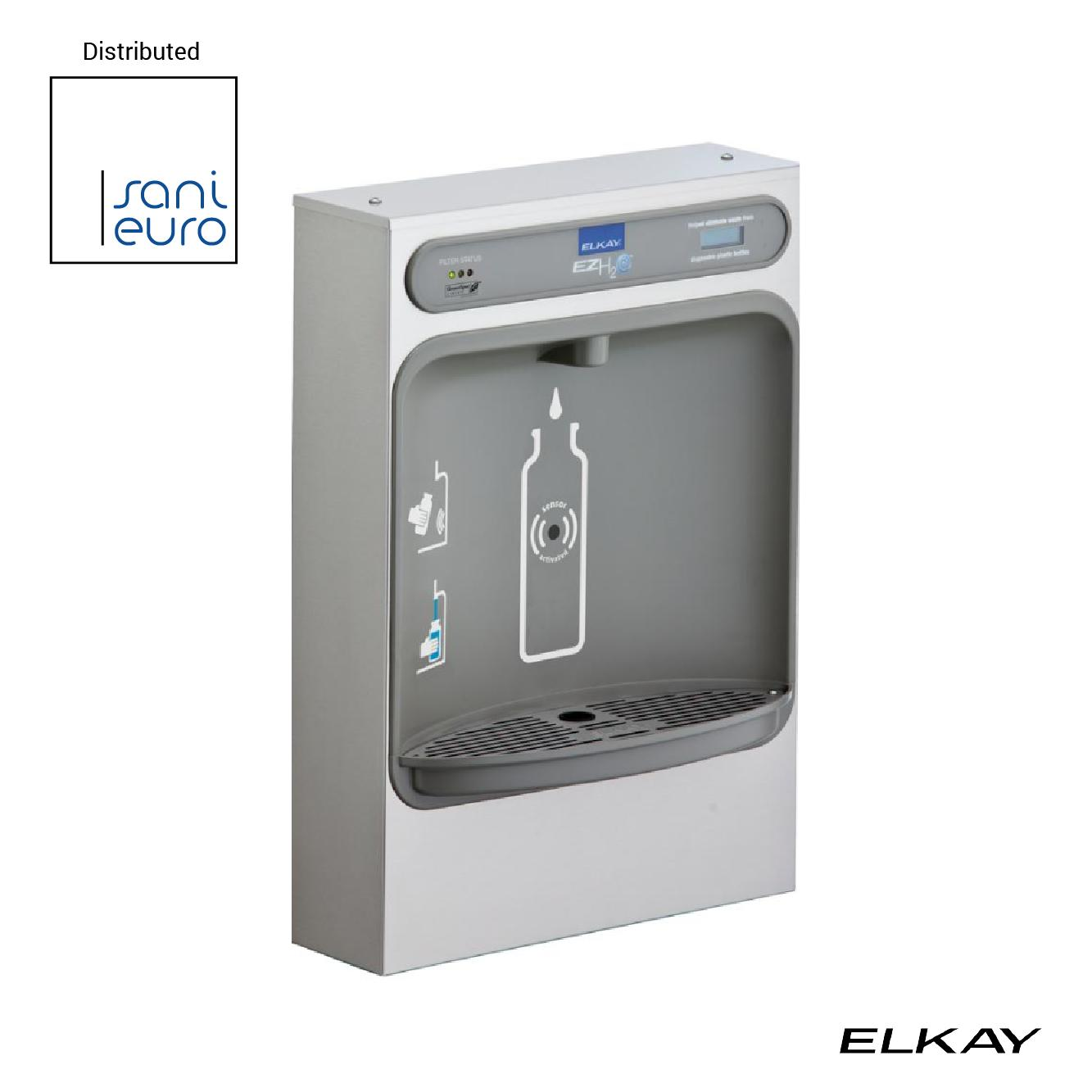 Elkay Ezh2O Bottle Filling Station Surface Mount Filtered, Non-Refrigerated Stainless 220V ELK-LZWSS