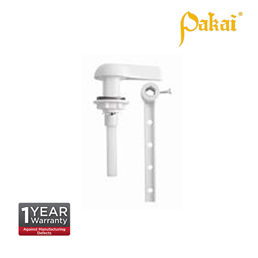 Pakai Small White Plastic Handle, Plastic Rod P206