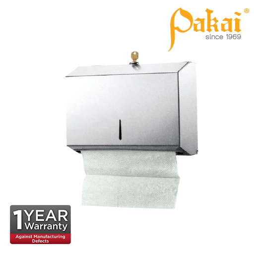 Pakai Stainless Steel Paper Towel Dispenser wt Lock & Key SS-PTD-203
