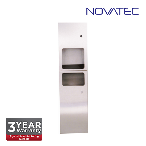 Novatec 2-In-1 Stainless Steel Reccess Mounted Automatic Hand Dryer SS-REC-2+1