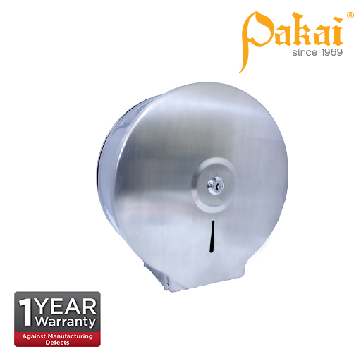 Pakai Stainless Steel Jumbo Roll Tissue Dispenser SSJRD-R02