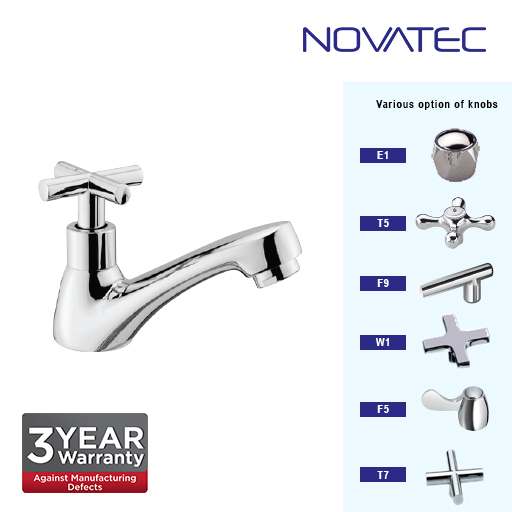Novatec Chrome Plated Deluxe Big Body Basin Pillar Tap T7-1123B
