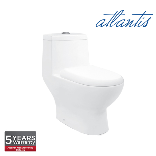 Atlantis Galati One Piece Wash Down Pedestal Water Closet WC1008S