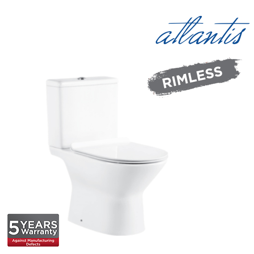 Atlantis Brussels Close Couple Rimless Wash Down Pedestal Water Closet WC2009S