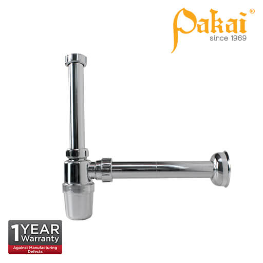 Pakai Chrome Plated ABS Bottle Trap A307
